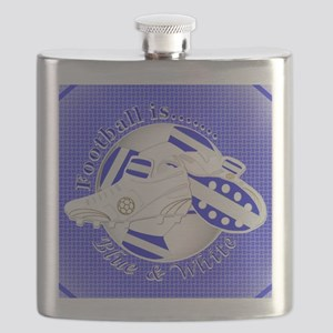 Blue and White Football Soccer Flask