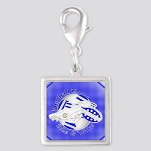 Blue and White Football Soccer Charms