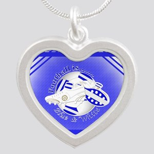 Blue and White Football Soccer Necklaces