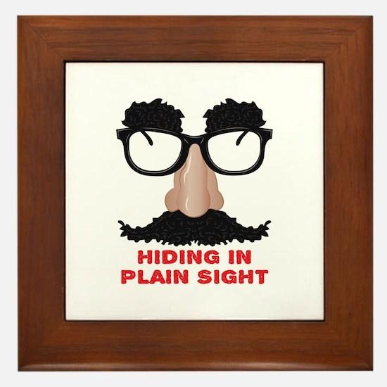 In Plain Sight Framed Tile