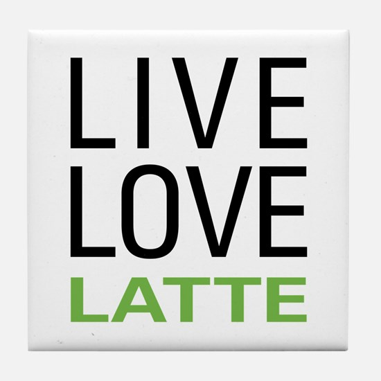 Live Love Latte Tile Coaster