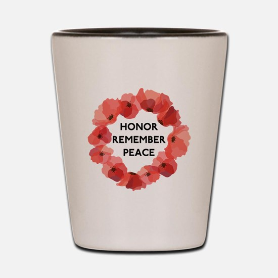 Remembrance Day Shot Glass