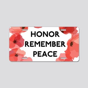 Remembrance Day Aluminum License Plate