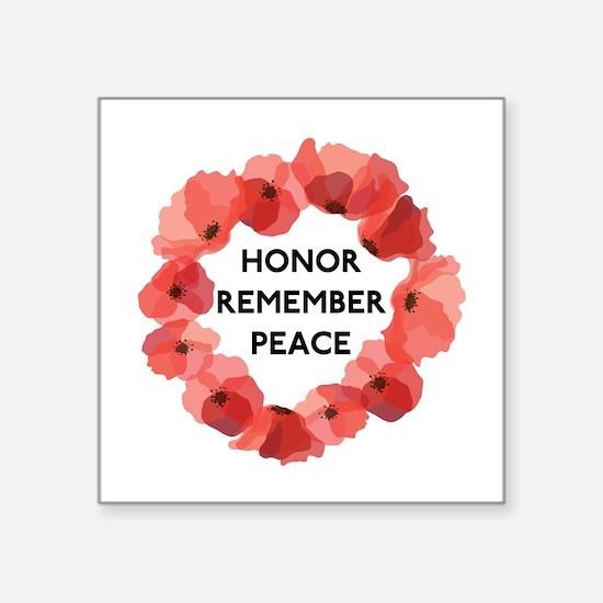 """Remembrance Day Square Sticker 3"""" x 3"""""""