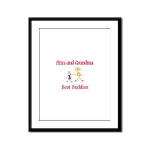 Finn & Grandma - Buddies Framed Panel Print