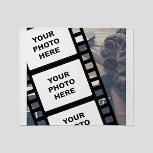 Custom Film Strip Throw Blanket