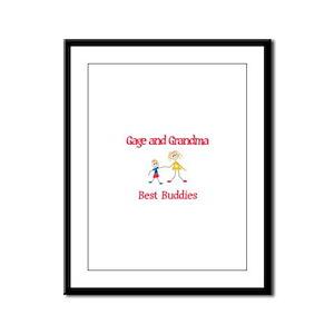 Gage & Grandma - Buddies Framed Panel Print
