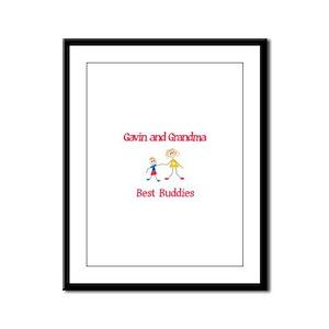 Gavin & Grandma - Buddies Framed Panel Print