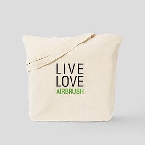 Live Love Airbrush Tote Bag