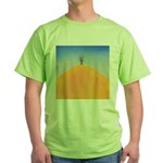 204.tree on the hill.. Green T-Shirt