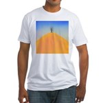 204.tree on the hill.. Fitted T-Shirt