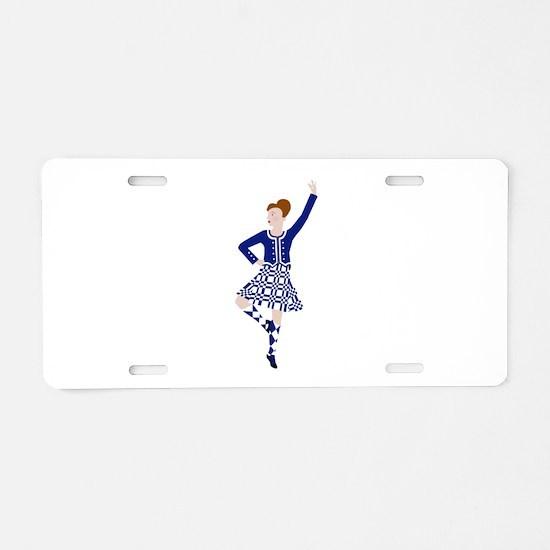 Scottish Dancer Aluminum License Plate