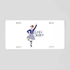 Lets Dance Aluminum License Plate