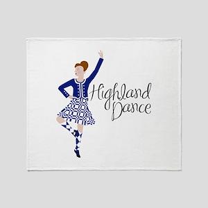 Highland Dance Throw Blanket