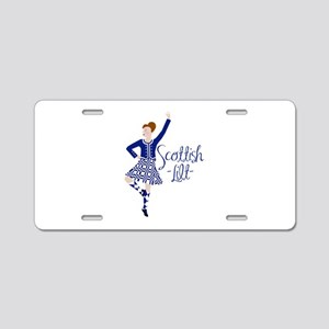 Scottish Lilt Aluminum License Plate