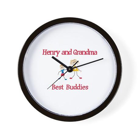 Henry & Grandma - Buddies Wall Clock