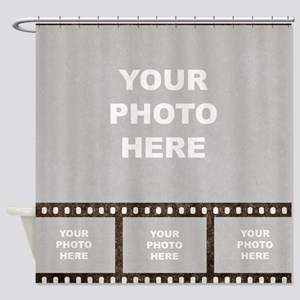 Custom Vintage Film Strip Shower Curtain