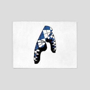 Scottish Dance Shoes 5'x7'Area Rug