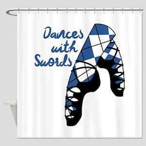 Dances With Swords Shower Curtain