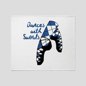 Dances With Swords Throw Blanket