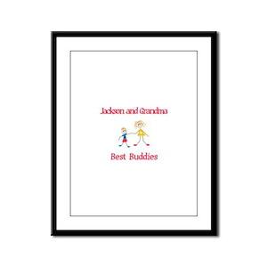 Jackson & Grandma - Buddies Framed Panel Print