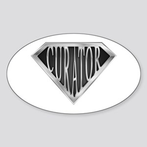 SuperCurator(metal) Oval Sticker