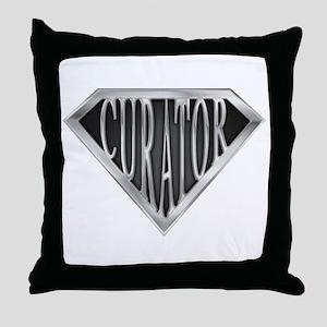 SuperCurator(metal) Throw Pillow