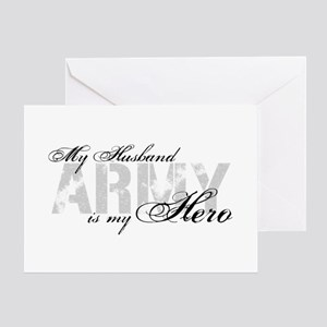 Husband is my Hero ARMY Greeting Cards