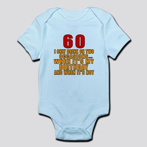 60 Birthday Designs Infant Bodysuit