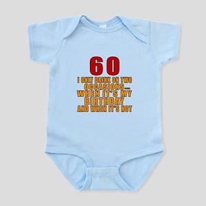 60 Birthday Designs Infant Bodysuit
