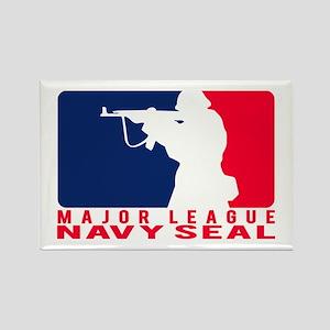 Major League Seal 2 - NAVY Rectangle Magnet