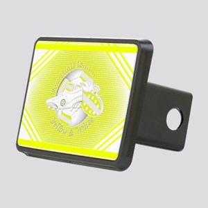 Yellow and White Football Soccer Hitch Cover