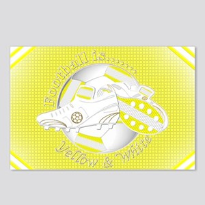 Yellow and White Football Soccer Postcards (Packag