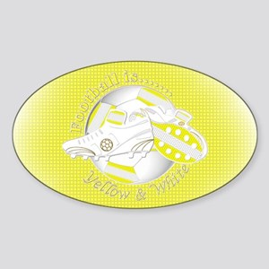 Yellow and White Football Soccer Sticker
