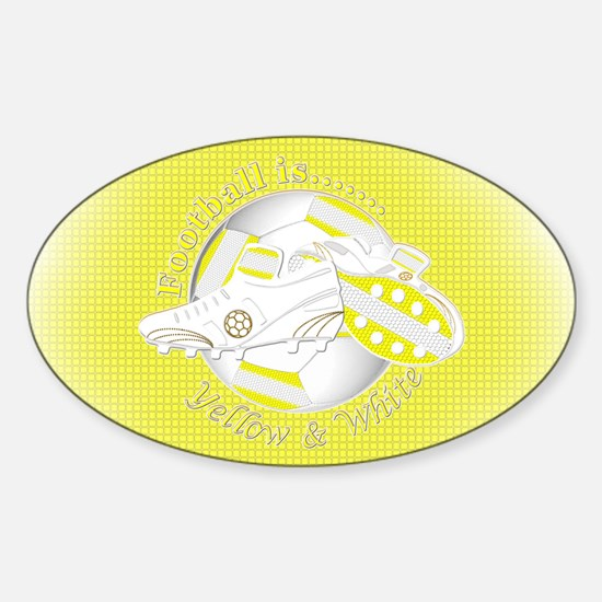Yellow and White Football Soccer Decal