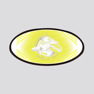 Yellow and White Football Soccer Patch