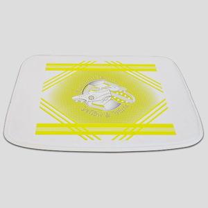 Yellow and White Football Soccer Bathmat