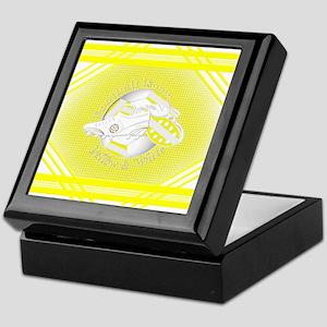 Yellow and White Football Soccer Keepsake Box