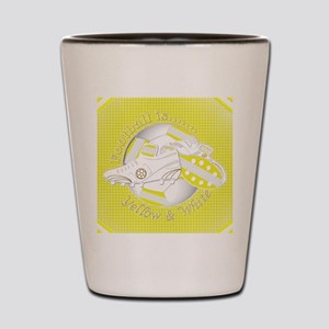 Yellow and White Football Soccer Shot Glass