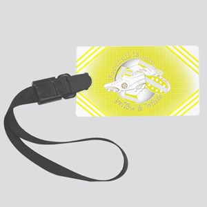 Yellow and White Football Soccer Luggage Tag