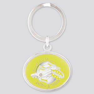 Yellow and White Football Soccer Keychains