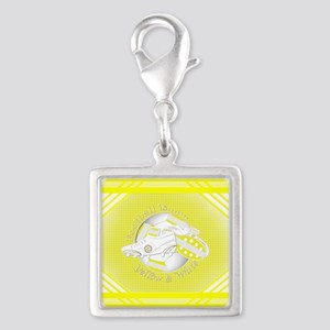 Yellow and White Football Soccer Charms