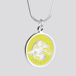 Yellow and White Football Soccer Necklaces