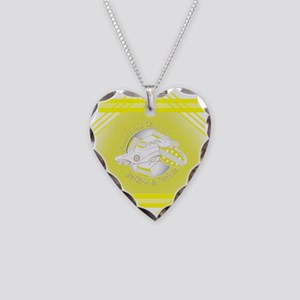 Yellow and White Football Soccer Necklace