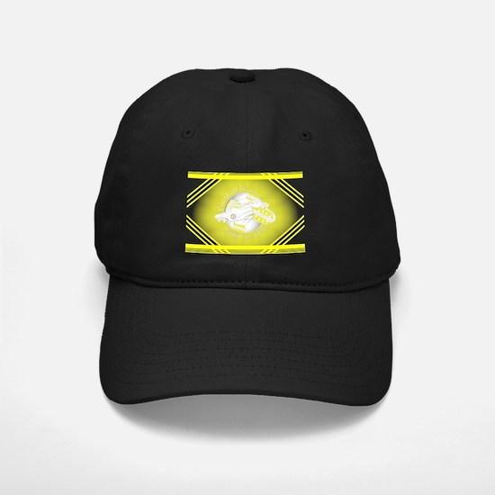Yellow and White Football Soccer Baseball Hat