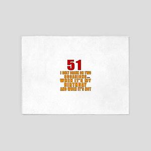 51 Birthday Designs 5'x7'Area Rug