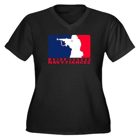 Major League Fiancee 2 - NAVY Women's Plus Size V-