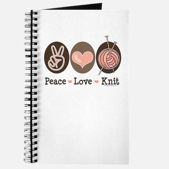Peace Love Knit Knitting Journal