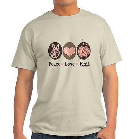 Peace Love Knit Knitting Light T-Shirt
