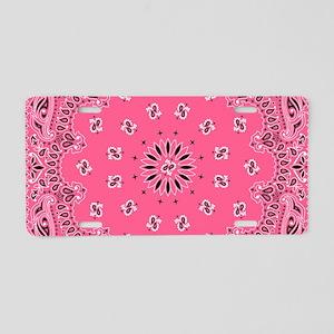 Pink Bandana Aluminum License Plate